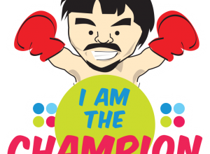 FREE quirky Manny Pacquiao themed stickers from Smart