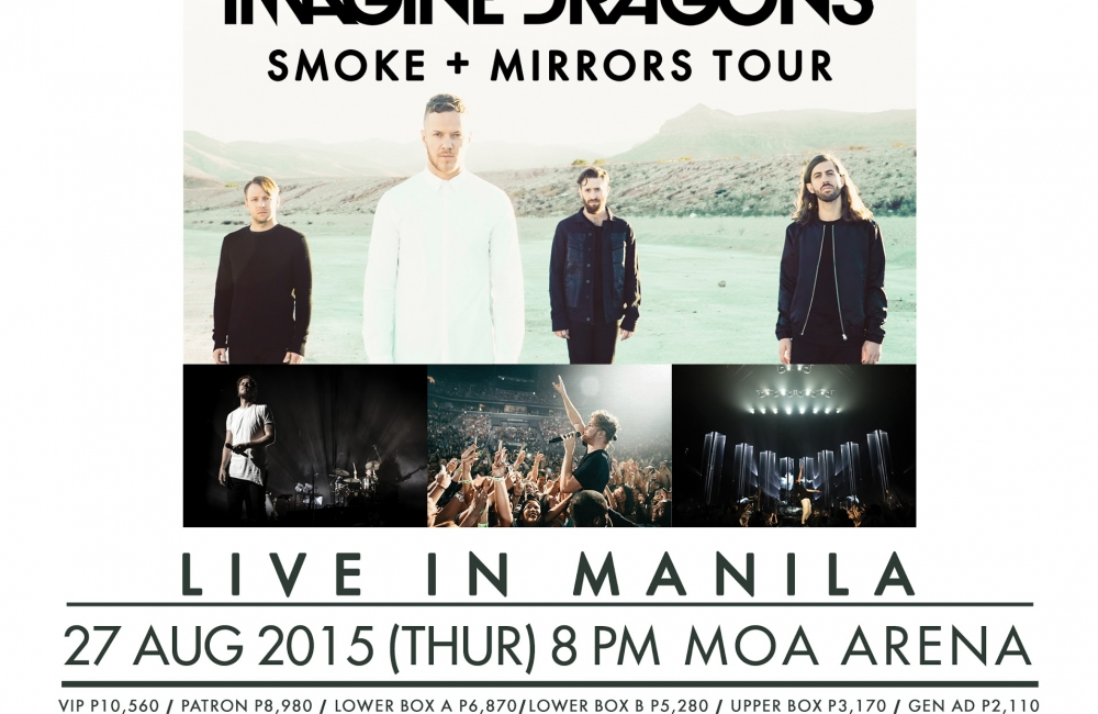 IMAGINE DRAGONS to perform live in Manila! SMOKE + MIRRORS TOUR